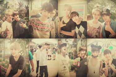 Disneyland with EXO by lastfera