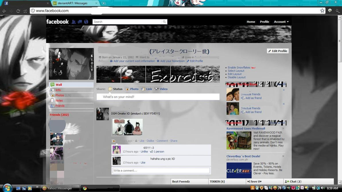 My facebook profile by Bloodregret
