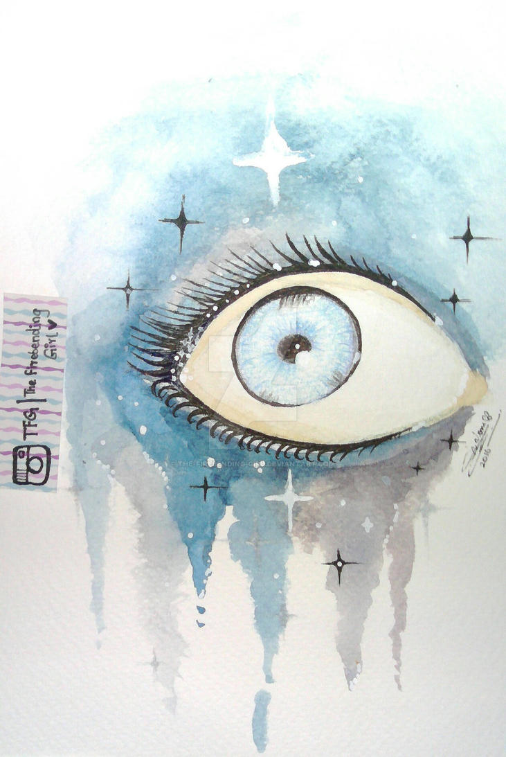 The Eye. (Art Attempt #2) by The-Firebending-Girl