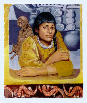 Moche woman with quarz necklace