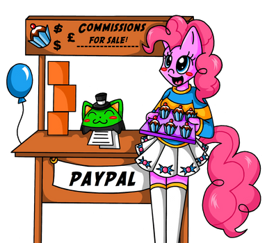 Pinkie commission promotion. by SilverHedgie
