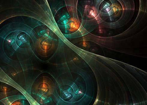 SteamPunk Fractal Clockwork Mechanism Fractal Art