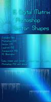 16 Digital Matrix Photoshop Vector Shapes