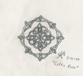 Celtic Rose by Abadoss