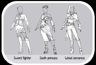 Outfit OTA : Batch.1 ( CLOSE : 0/3 ) by JessyB-Design