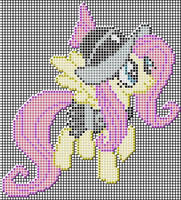 Fluttershy (Private Pansy) Pixel art design for MC by xxchippy13xx