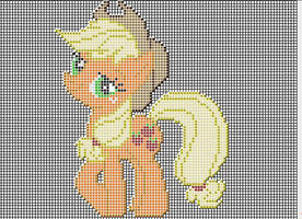 Applejack Pixel art design for MC by xxchippy13xx