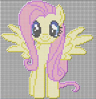Fluttershy Pixel art design for MC by xxchippy13xx