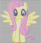 Fluttershy Pixel art design for MC