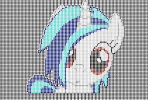 Vinyl Scratch Pixel art design for MC by xxchippy13xx