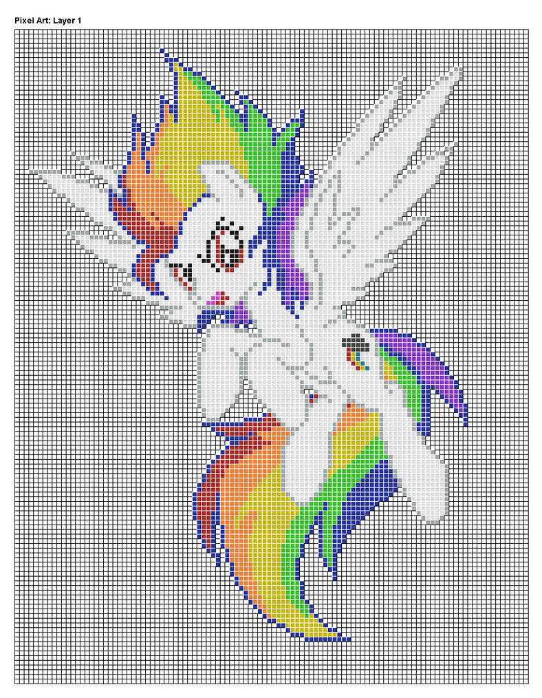 Super Rainbow Dash Pixel Art Design For MC by xxchippy13xx