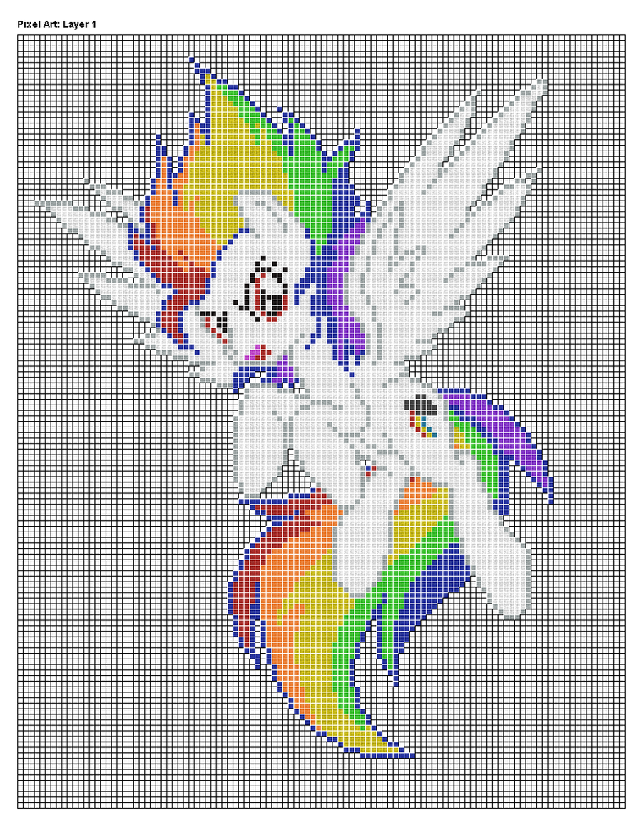 Pixel Art Design : Super rainbow dash pixel art design for mc by xxchippy xx
