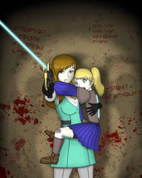 Erin protecting Rosie by Distant-Rain