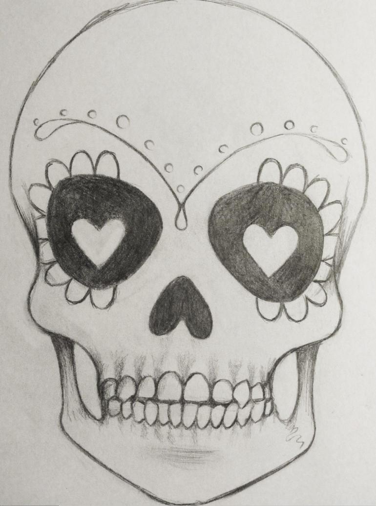 Simple Sugar Skull Tattoo