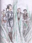KotOR2-Female Exile and Dudes