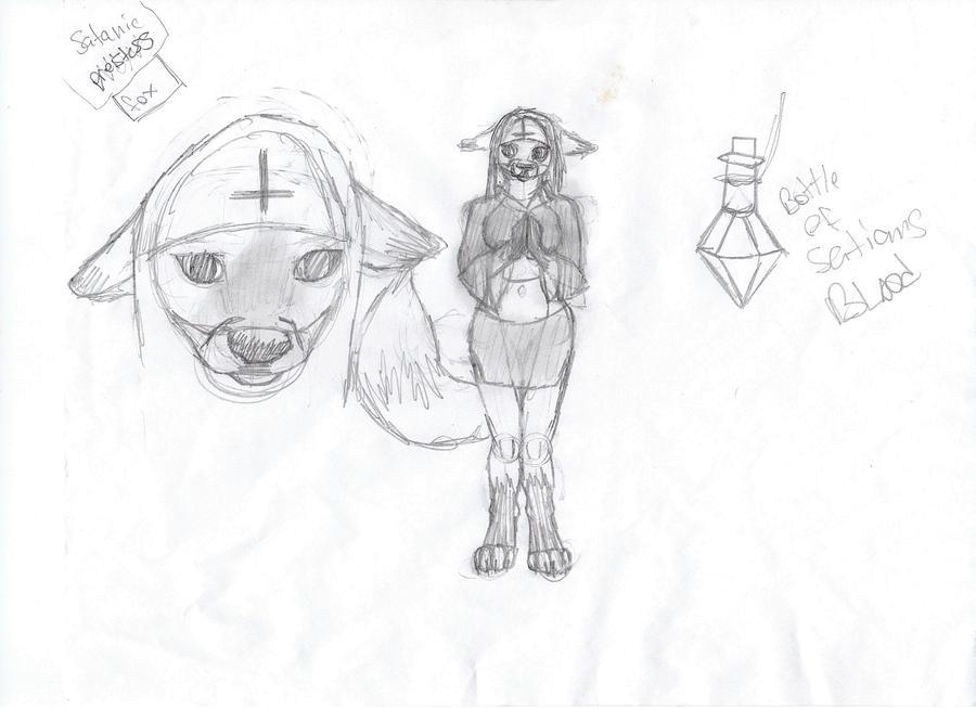 satanic nun by marshmelow66