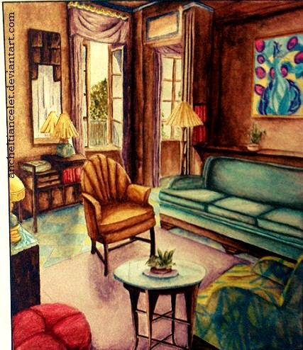 Captivating 80u0027s Living Room By Ancheltiancelet ...