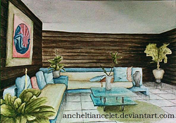 60 39 s living room by ancheltiancelet on deviantart for Living room 60 s
