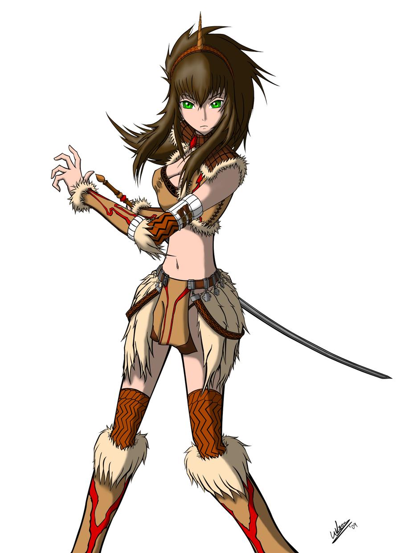 Anime Female Warrior W...