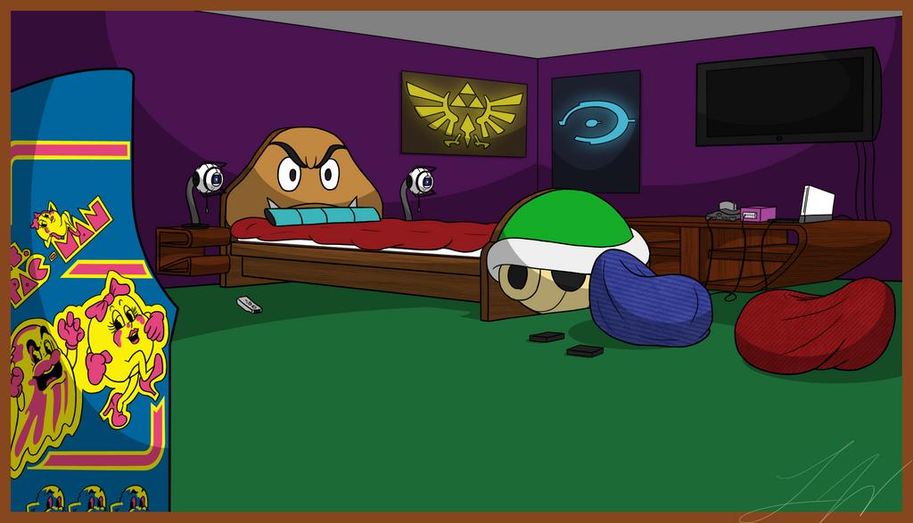 gamer bedroom by darkadobe on deviantart