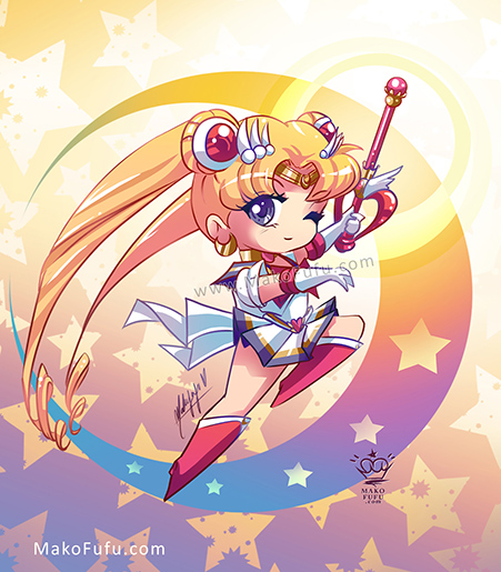 .: Chibi Super Sailor Moon :. by Mako-Fufu