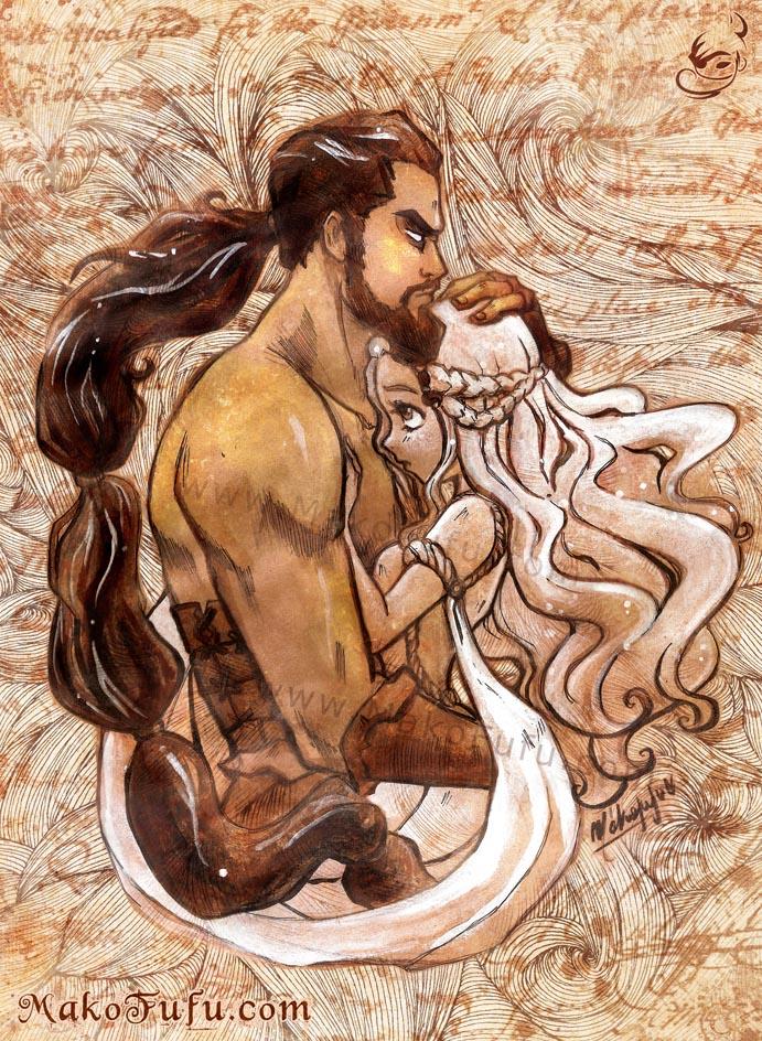 Khal + Khaleesi -GameOfThrones by Mako-Fufu