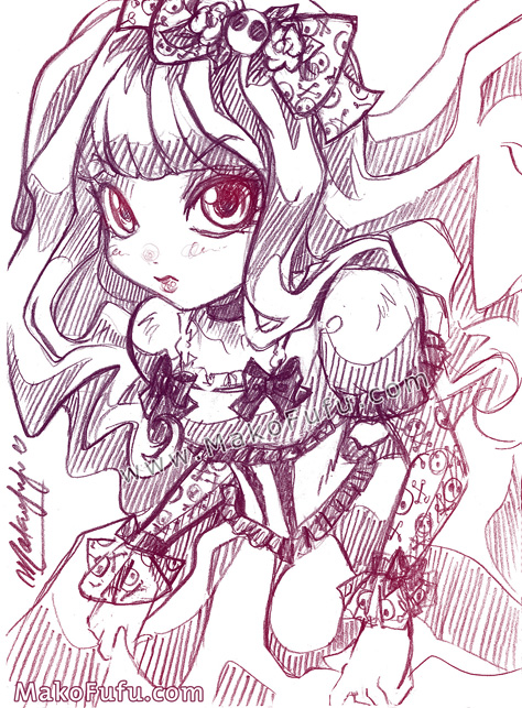 79 KeyWord Commish: Lolita Girl + Gothic Lolita by Mako-Fufu