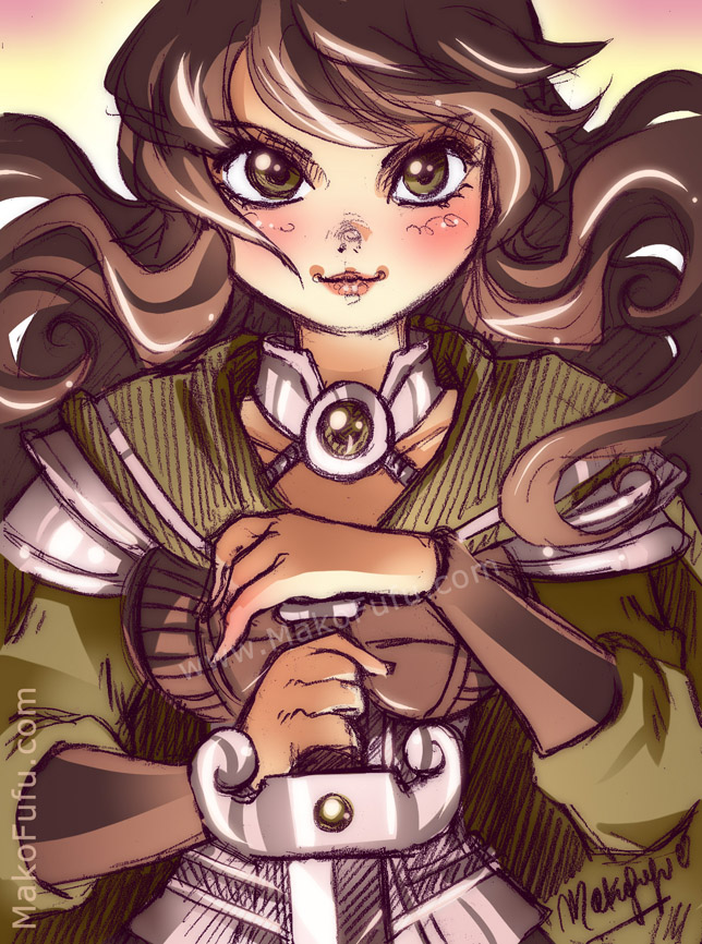 100 KeyWord Commish: Lady+Fate by Mako-Fufu
