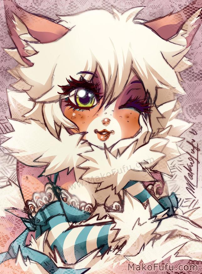 101 KeyWord Commish: Bambi + Fluffy by Mako-Fufu