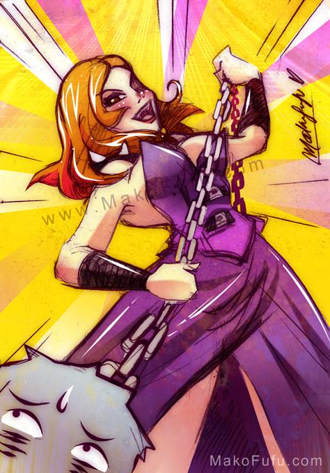 103 KeyWord Commish: CrystalTerror + Tyrant by Mako-Fufu