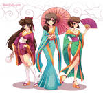 .: Kimono Ranmagirls :. commission