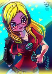 127 KeyWord Commission: Casey + Gamer by Mako-Fufu