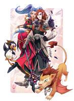 .: Tharasia and Iasonas :. WoW commission by Mako-Fufu