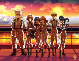.:Evangelion OC group:. Commission by Mako-Fufu