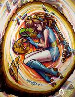 Nausicaa - Painting 2015 by Mako-Fufu