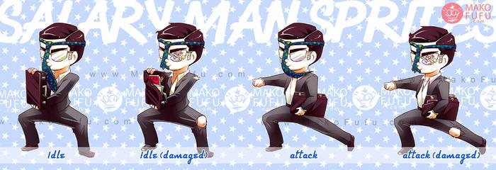 Salary Man Sprites - Commission by Mako-Fufu