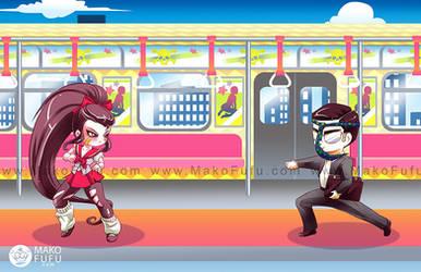 Metro Backdrop - Commission by Mako-Fufu
