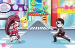 Harajuku Backdrop - Commission