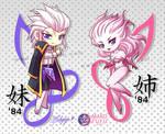 Setzer and Terra - Tattoo Commission by Mako-Fufu