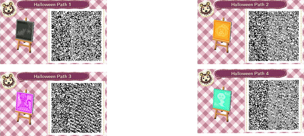 brick path animalcrossing halloween paths by acnl qr codez on deviantart
