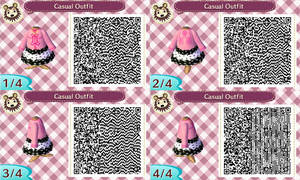 ACNL- Pink Bunny Hoodie QR Code