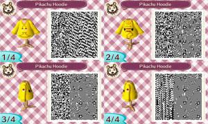 ACNL- Pikachu Hoodie QR Code