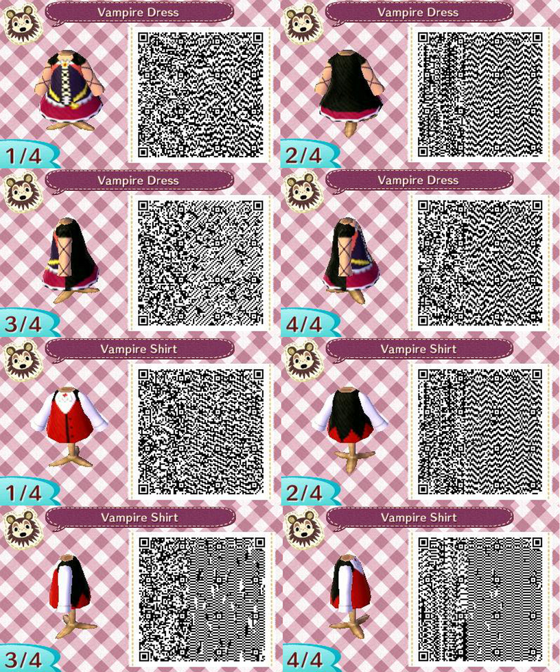 Acnl Vampire Outfit Qr Codes By Acnl Qr Codez On Deviantart