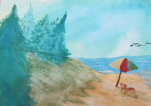Chill Beach Day - Water color