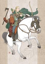 hunters-Legolas,Gimli by ilxwing