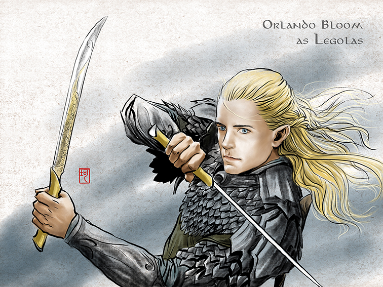 Legolas in Mirkwood by ilxwing