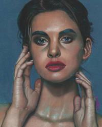Pastel drawing - Women Portrait by PeachtreeDandan