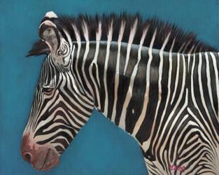 Oil painting - Zebra by PeachtreeDandan
