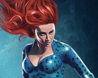 Mera-Amber Heard from Aquaman movie by PeachtreeDandan