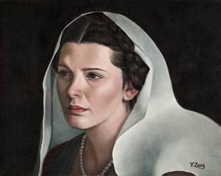 Oil Painting - Female portrait by PeachtreeDandan